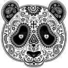 Day of the Dead Panda Mask T-Shirt or Tank Top All Sizes