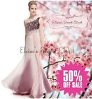BNWT GEORGIA Ombre Pink Chiffon Lace Maxi Prom Evening Bridesmaid Dress SALE!!!