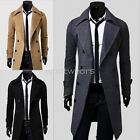 Stylish Mens Fashion Double-breasted Slim Fit Coats Long Jackets Suit W2114 IND