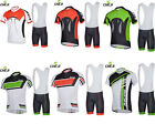 NEW! Cheji Men boys Cycling Outdoor short sleeves Top jersey+bib shorts UK S-3xl