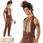 Indian Man Noble Warrior Mens Western Fancy Dress Costume Adult Outfit M L XL
