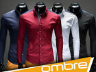 UK NEW Men's Designed Shirt K81 Long Sleeve Casual Business Shirt OMBRE CLOTHING