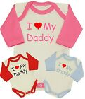 BabyPrem Baby Clothes I LOVE DADDY One-Piece Vest Creeper Bodysuit Shower Gifts