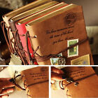 Retro Classic Vintage Leather Bound Blank Pages Journal Diary Notebook J