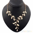 Women Colorful Fashion Leaves Pendant Necklace Girls Alloy/Resin Necklaces B51U