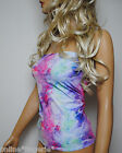 MULTI COLOUR LYCRA STRETCH LONG BOOB TUBE TOP VEST BANDEAU PARTY CLUB DANCE W582