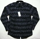 UNIQLO MEN Flannel Printed Long Sleeve Shirt Navy (088008)