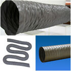 """FLEXIBLE PVC DUCTING HOSE 2"""" 2.5"""" 3"""" inch 35ft EXHAUST DUCT AIR VENT Fan Pipe"""