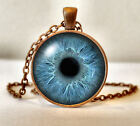Antique Copper Finish Glass Eyeball Eye Pendant Necklace + Box - Many Designs