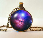 Antique Bronze Finish Space Galaxy Stars Pendant Necklace + Box - Many Designs