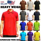 PLAIN POLO SOLID COLORS SHIRT MENS PIQUE COLLARED CASUAL TOP ALL SIZES