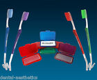 Orthodontic Toothbrush & Orthosil Silicone Wax ~ V-Trim 2-Ended Brush for Braces