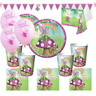 Garden Fairy Girls Deluxe Birthday Party Kits Plates Cups for 8 - 40 Guests!