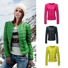 Fashion Womens Winter Outerwear Warm Thin Slim Down Coat Jacket Overcoat Parka