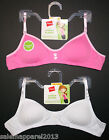 HANES GIRLS' PADDED MOLDED BRALETTE BRA 2-PACK STYLE H136 SIZE S, M, L, XL - NWT