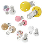 5PCs Wooden Pacifier & Soother Clips 3 Holes Different Colors for Baby