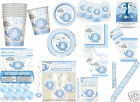 New Boys Baby Shower Party Supplies Tableware Decorations Set Blue Kit  8-16