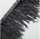 1M Neotrims Real Ostrich Feather Quality Satin Ribbon Trimming Fringe 10-12cm