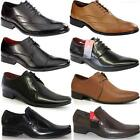 MENS PIERRE CARDIN LEATHER SHOES DESIGNER ITALIAN FORMAL SMART WEDDING SHOE SIZE