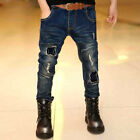 New Boy jeans trousers Kids Spring Autumn new children's pants with belts VJ0019