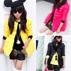 New winter girl Cotton coat candy color round neck warm jacket long coats VJ0014