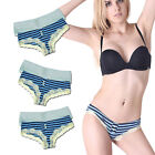6 Pairs Low-Rise Lace Trim Stripe Brief Hipster 34-44 UK 6 8 10 12 14 16