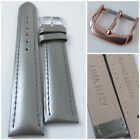 HQ 16 18 20 MM GRAY PEARLY ITALY LAMBSKIN LEATHER WATCH BAND SMOOTH PEARL STRAP