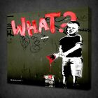 BANKSY WHAT GRAFFITI CANVAS WALL ART PICTURES PRINTS