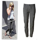 Myer washed grey zip cuff panel cargo mid rise pants size 10-16 RRP$69.95