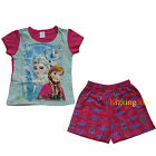 Disney Frozen Elsa and Anna Girl summer 2pcs Pyjamas Pajamas Set SZ 2,3,4,6,8
