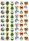 CHRISTMAS MIXTURE CHARACTERS 54  x Edible Decorations Cup Cake Toppers - PARTY