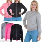 Womens Quilted Jacket Zipped Bomber Long Sleeve Ladies Coat Size 8 10 12 14