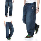Mens Jeans Relaxed Pants Baggy Loose Denim Hip-Hop Rap Street Wear Trousers PJ22
