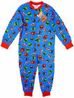 Boy's Power Rangers Mega Force Popper Sleepsuit Romper Pyjamas 4-10yr NEW