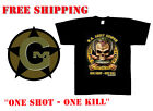 T-Shirt Black Ink Design US ARMY SNIPER 1 Shot 1Kill 100% Cotton New size Small
