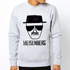 HEISENBERG BREAKING BAD QUALITY WALTER Men Grey Crewneck Sweatshirt