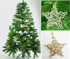 Bargin Cheap Gold Stars Wire Mesh hanging Xmas Christmas Tree Decoration