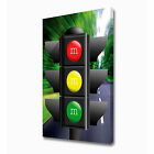 LARGE ROAD TRAFFIC LIGHT CANVAS PRINT EZ1017