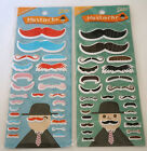 Cute Colorful Mustache Moustach Sticker Scrapbook Diary School Supply Craft Gift
