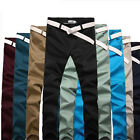 Fashion Men Stylish Designed Straight Slim Fit Trousers Casual Long Pants 8color