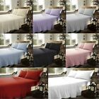 100% Brushed Cotton Flannelette Flat Sheets Single Double King Super King Size