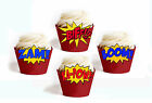 Superhero Sounds Birthday Party 15 Wraps Cupcake Cases Cake Wrappers Cup Cake