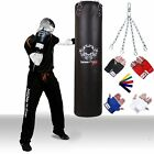 TurnerMAX Punching Bag Punch Bag Gloves Boxing Bag Kickboxing 3ft 4ft 5ft Black