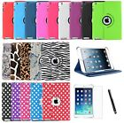 360 Rotating Premium Leather Case Smart Cover Stand For iPad Air 1st Generation