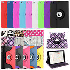 360 Rotating Folio Stand Leather Cover Case for Apple iPad 2 4 3 Mini Air 2 Pro