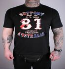 49 Hells Angels Australia Big Red Machine Freedom Support 81 T-Shirt black