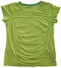 Xersion Quick -Dri Loose Performance Wear Short Sleeve Shirt Luminous Lime Top