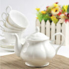 British White Fine Bone China Teapot Coffee Pot 950ml