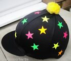 Riding Hat Silk Skull cap Cover BLACK PINK YELLOW ORANGE LIME FLUORESCENT STARS