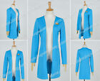 Star Trek:The Next Generation TNG Cosplay Beverly Crusher Costume Blue Long Coat